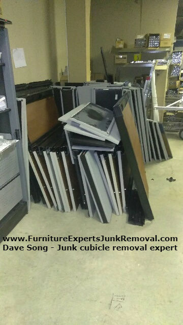 Junk office cubicle removal in alexandria VA