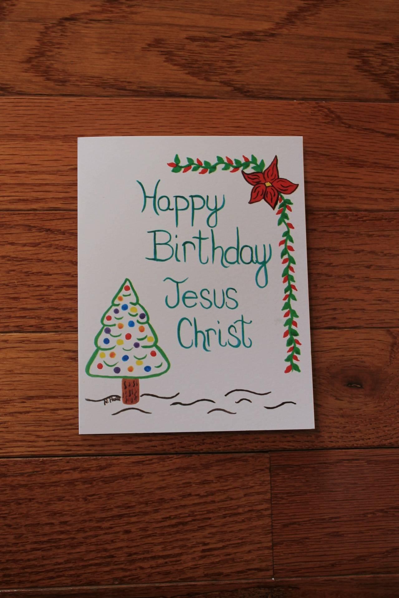 Happy Birthday w/Christmas tree