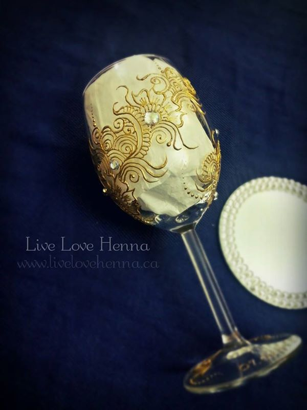 Hand designed wine glass