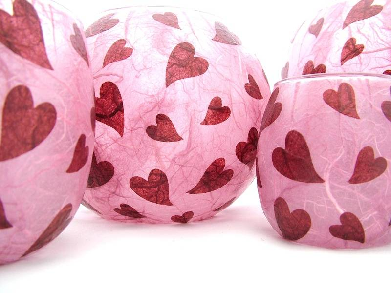 Rose Pink and Burgundy Melting Hearts