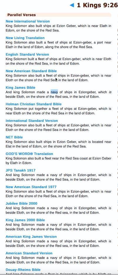 1 Kings 9:26 KJV Bible