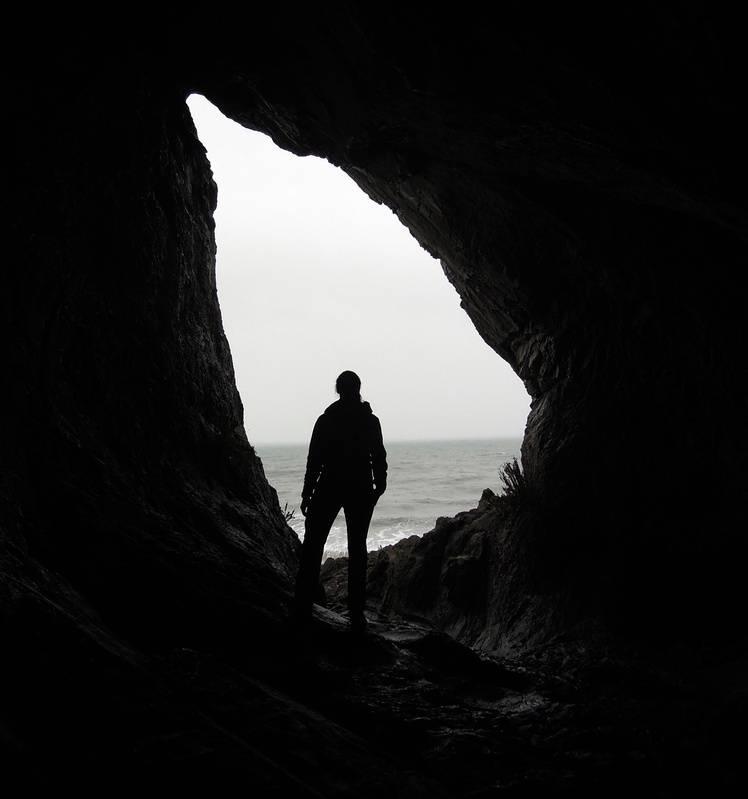 the teardrop cave - aka Paviland, or Goat's Hole