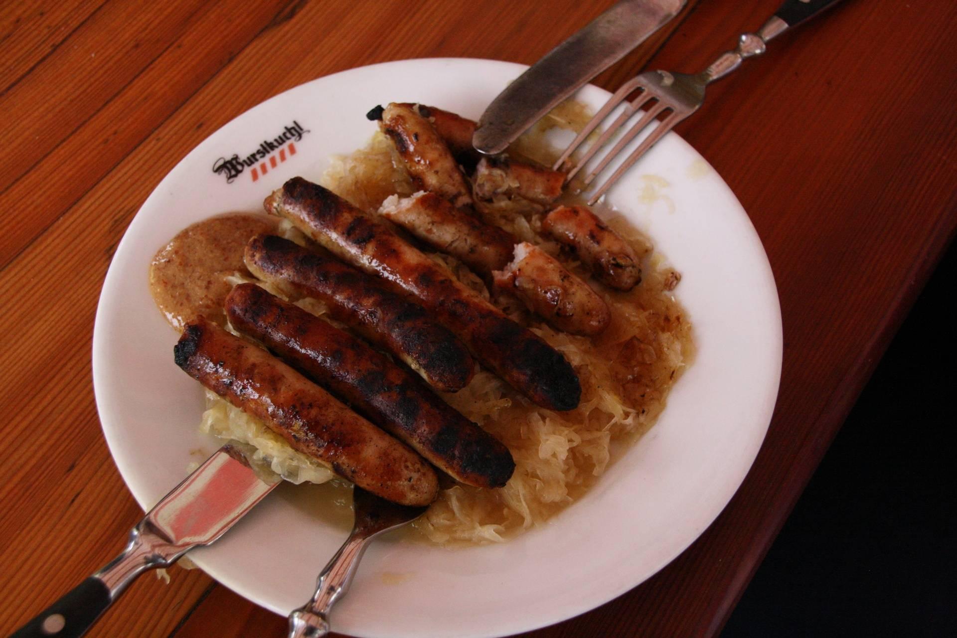 Plate of sausages in Regensburg