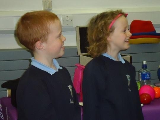 Pupils volunteering to help!