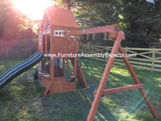 swing set installation service in bowie MD