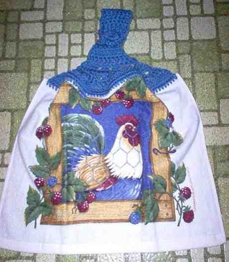 Rooster & Berries Kitchen Towel