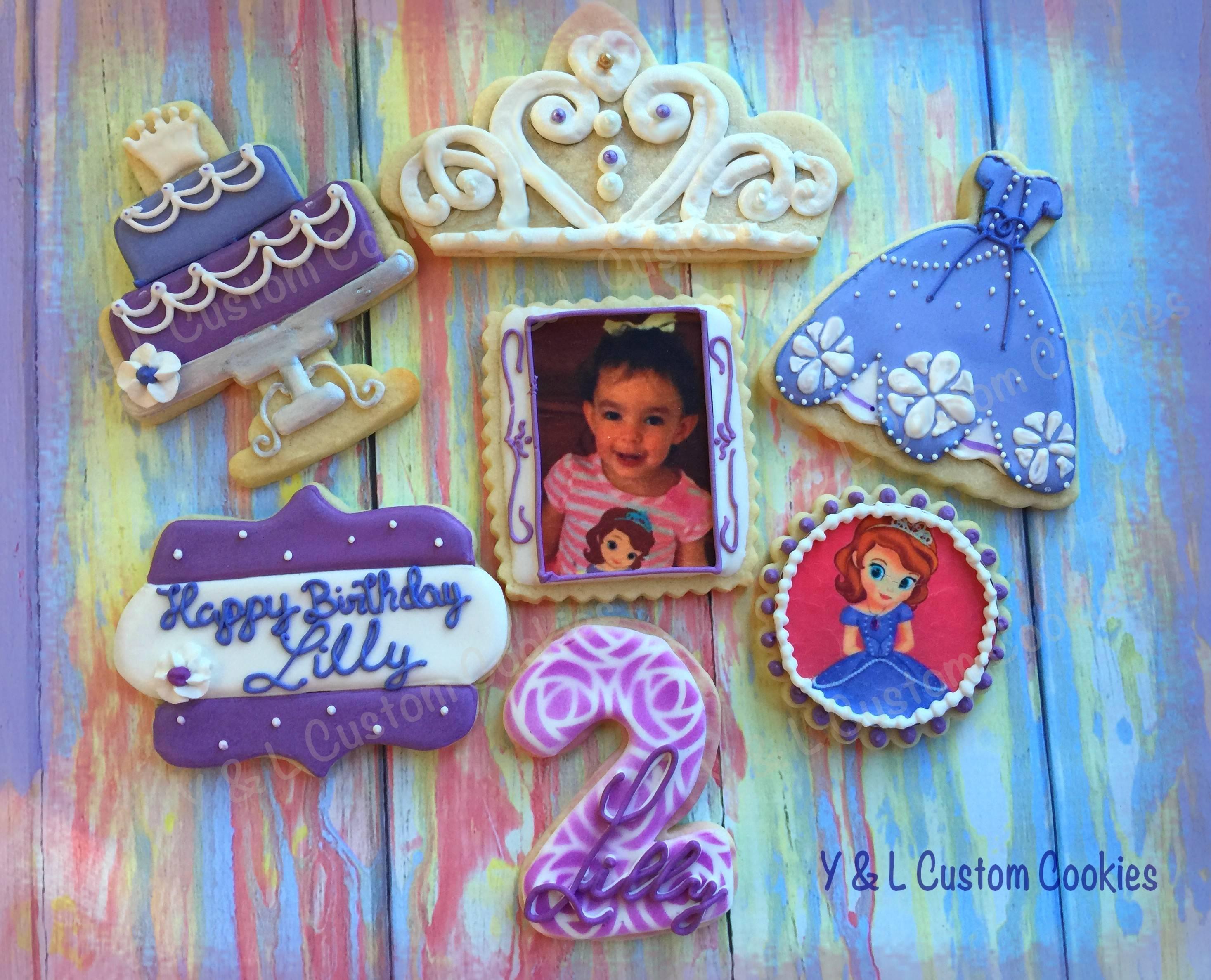 Birthday Cookies Sofia the First Theme