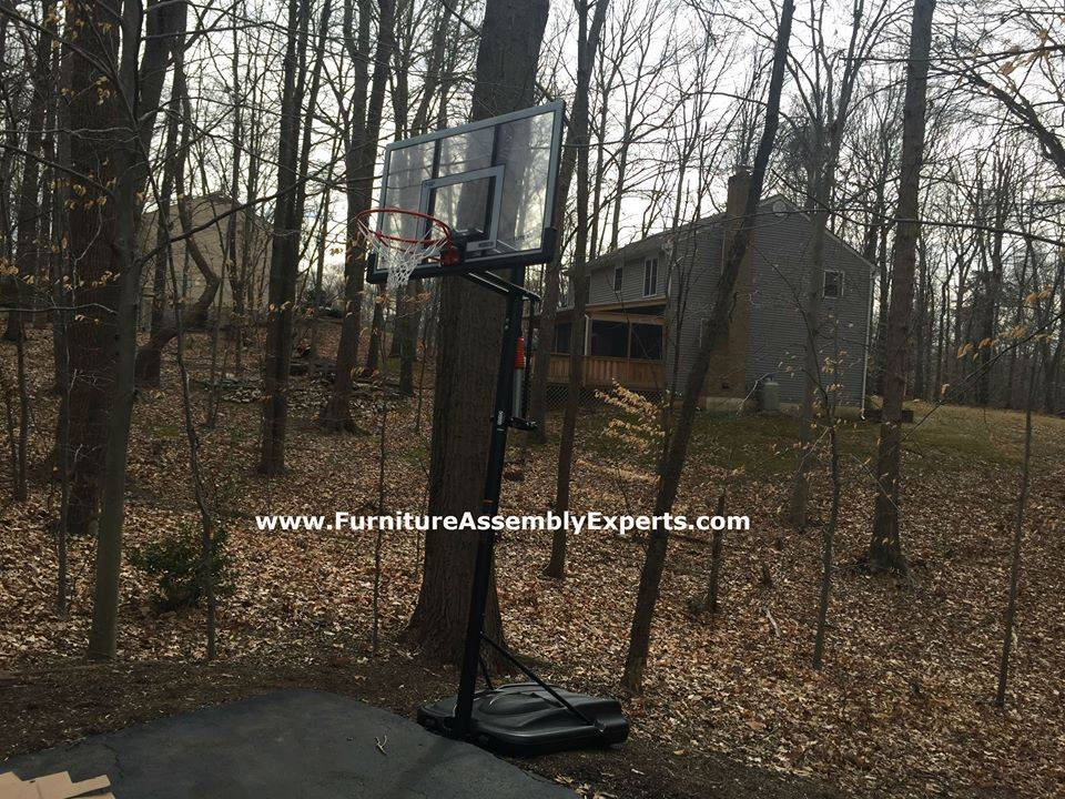 lifetime portable basketball hoop assembly service in gaithersburg MD