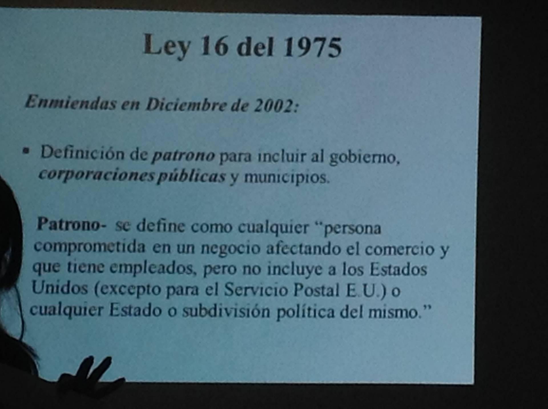 Ley 16 de 1975