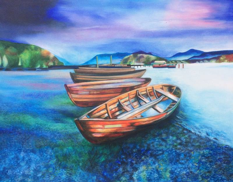 Boats of Colour No 1