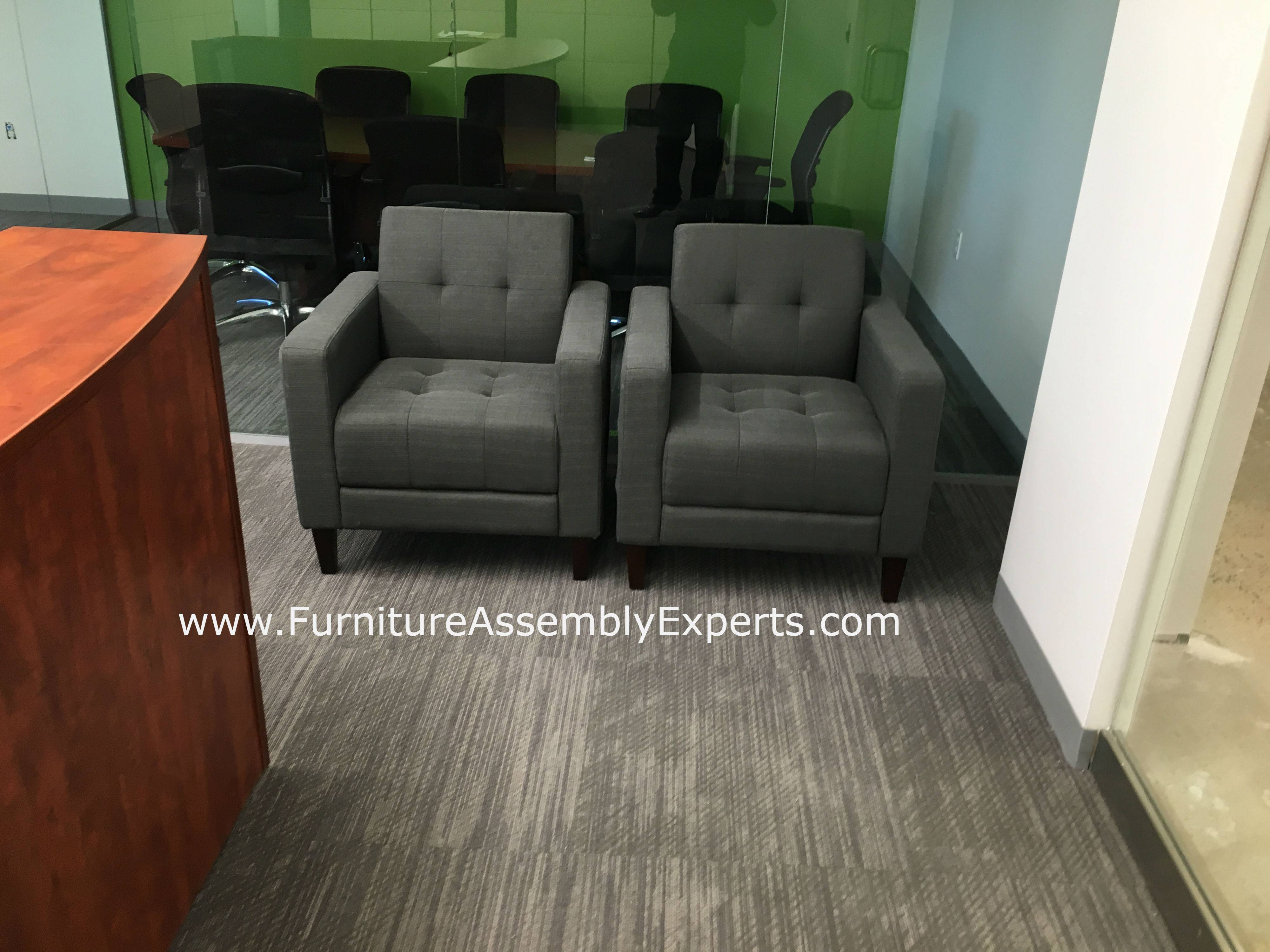 office lounge chairs installation service in Washington DC