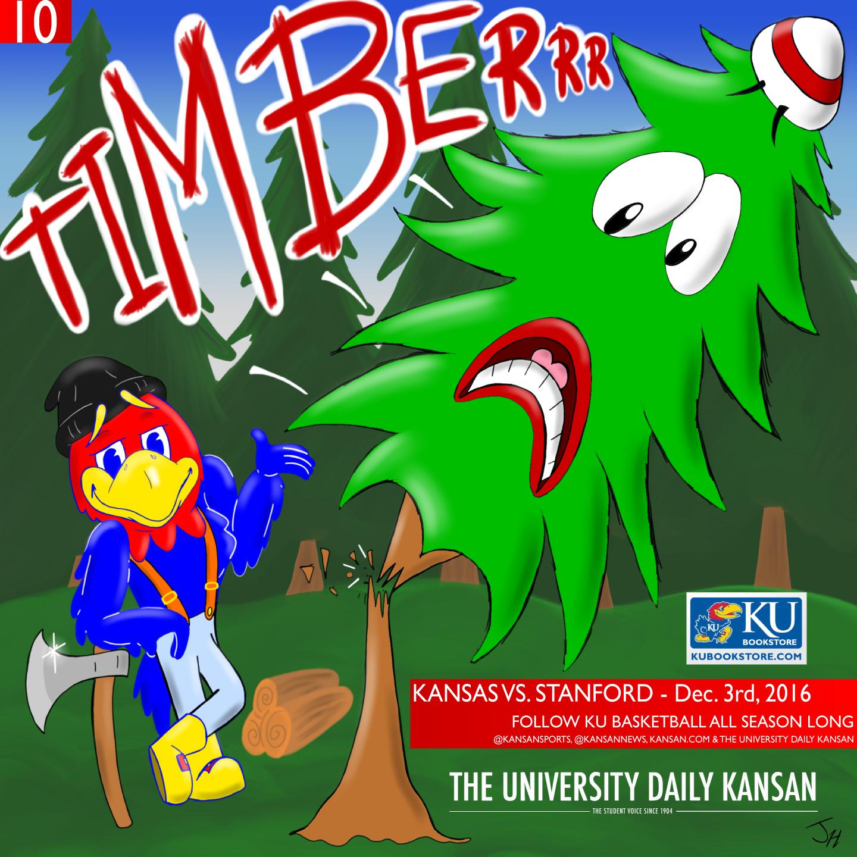 University Daily Kansan Basketball Gameday Poster - Stanford 2016