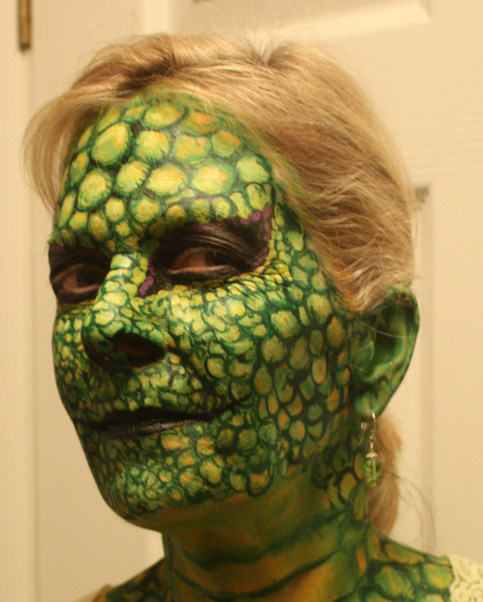 Lizard Face Painting