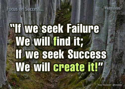 I seek success and will create it