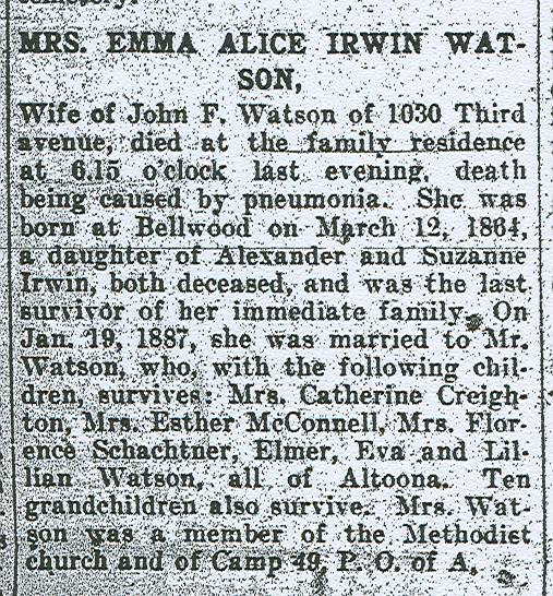 Watson, Emma Alice Irwin 1924