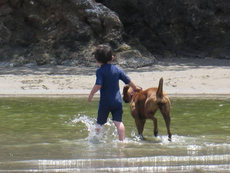 Ginger & our son in Avila