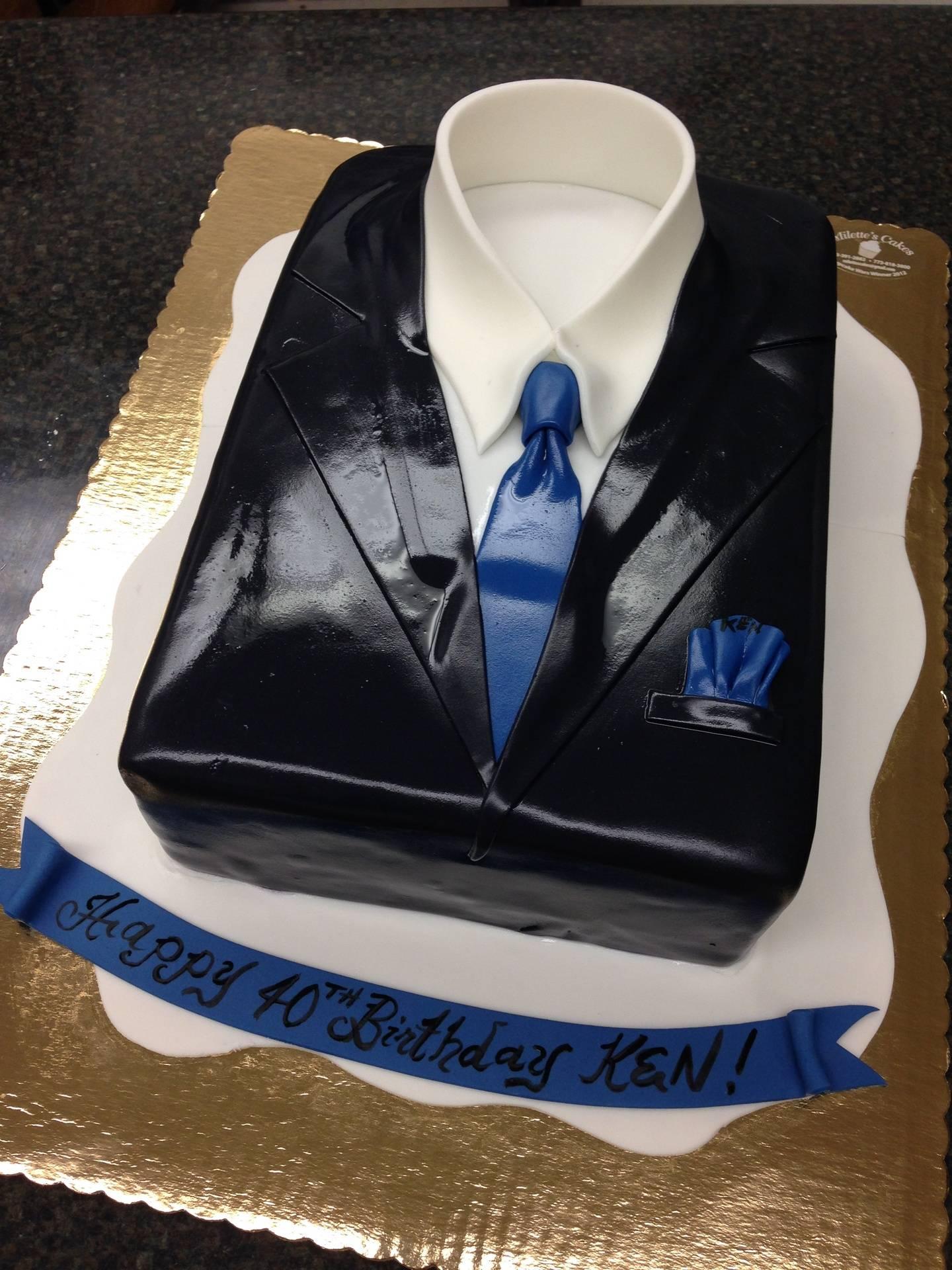 Black Suit Cake
