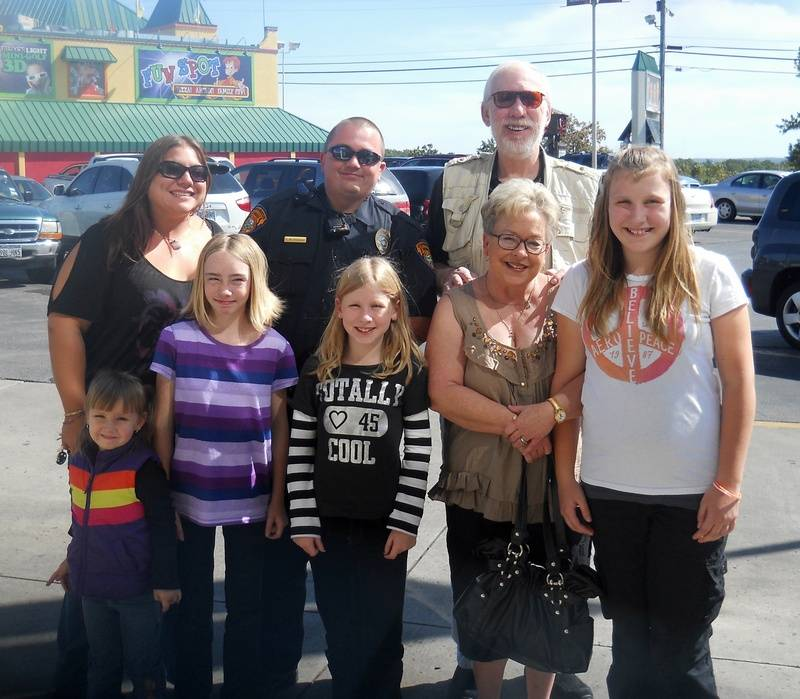 Family outing with Officer Chris!