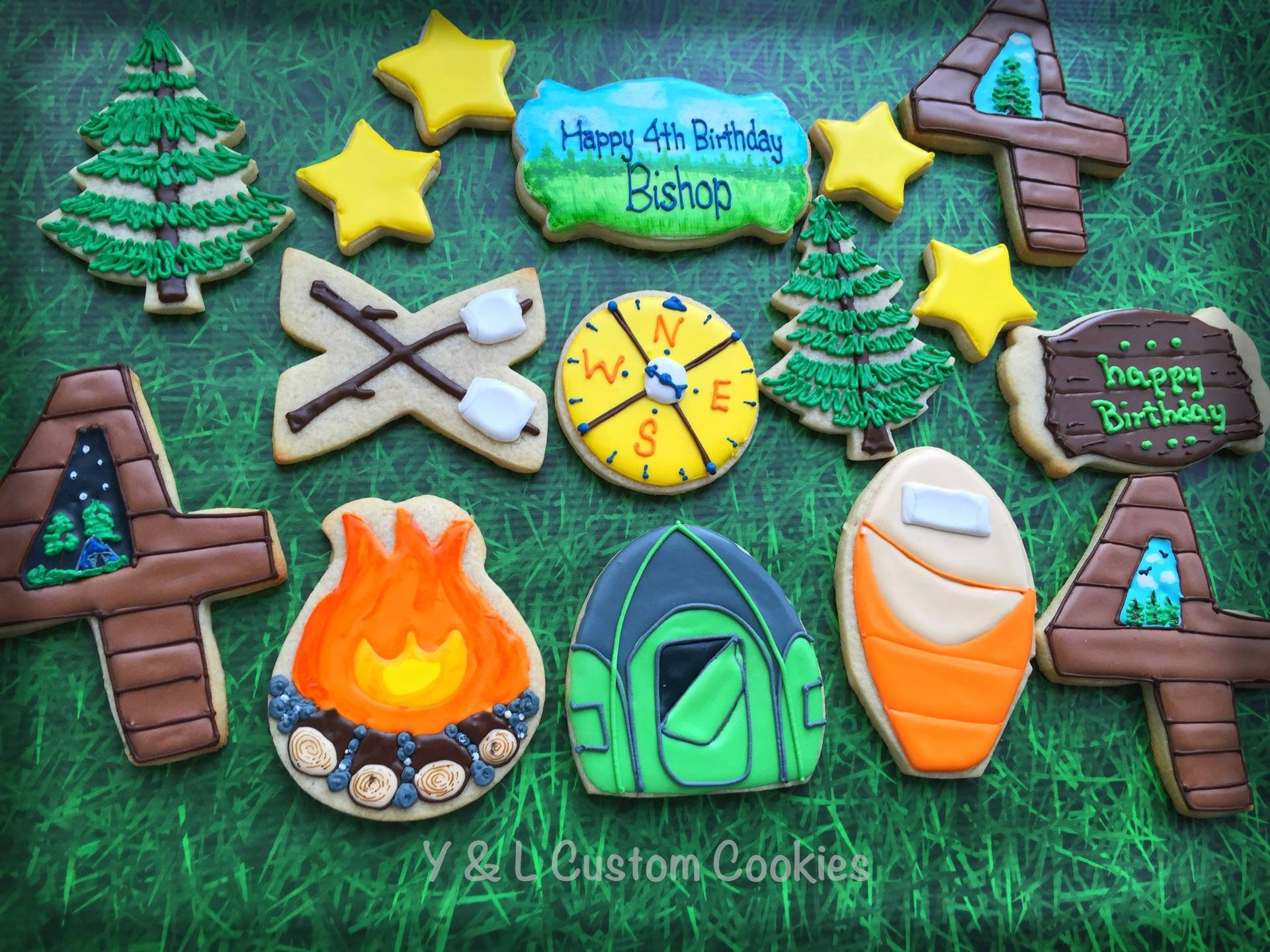 Birthday Cookies Camping Theme