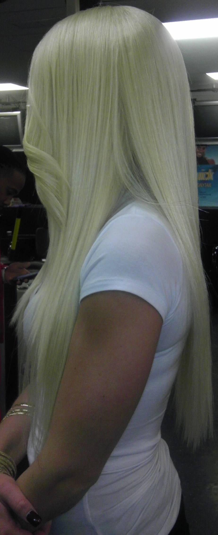 Custom, platinum wig