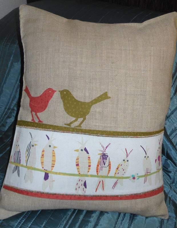 Bird Cushion finished