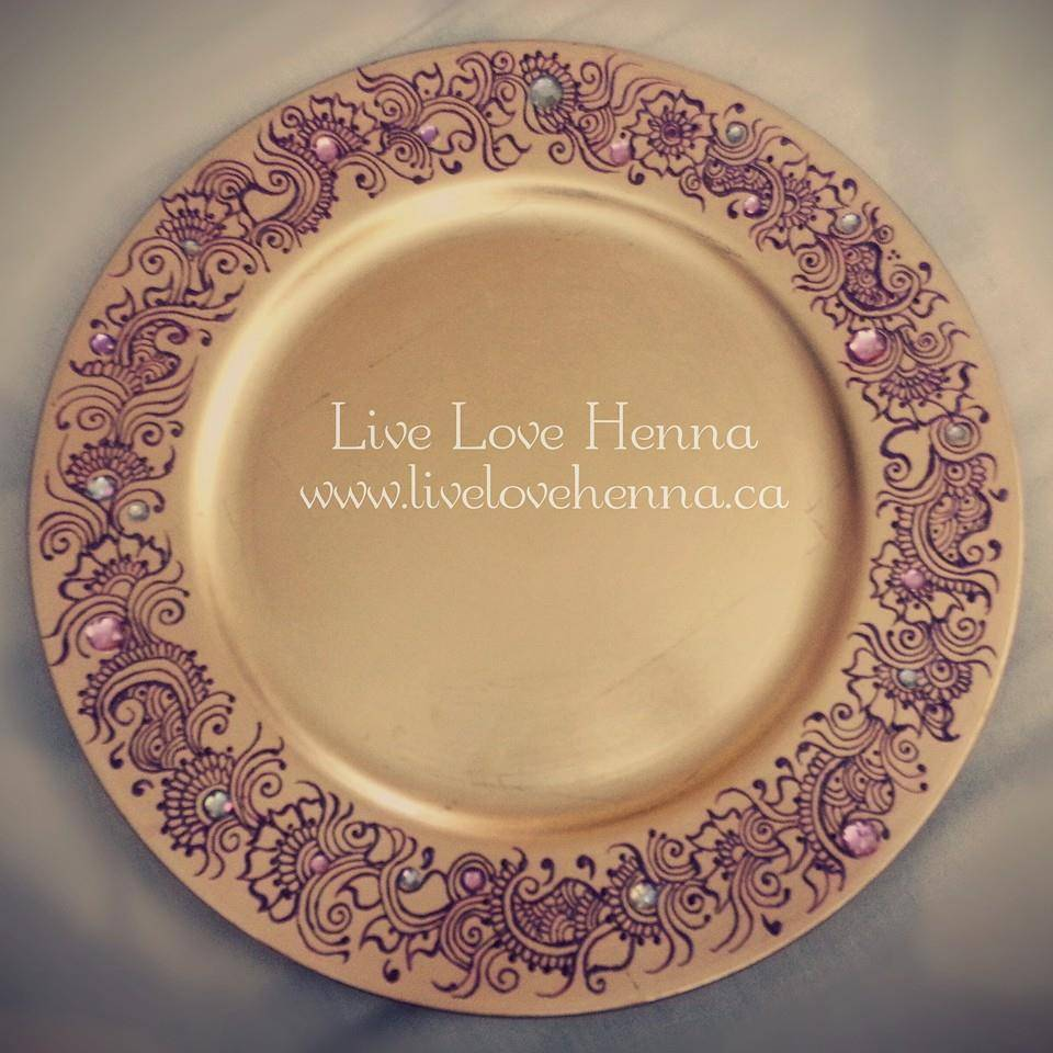 Golden Decor Plate