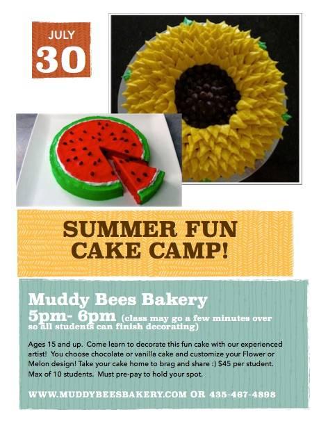 July 30 Cake Class