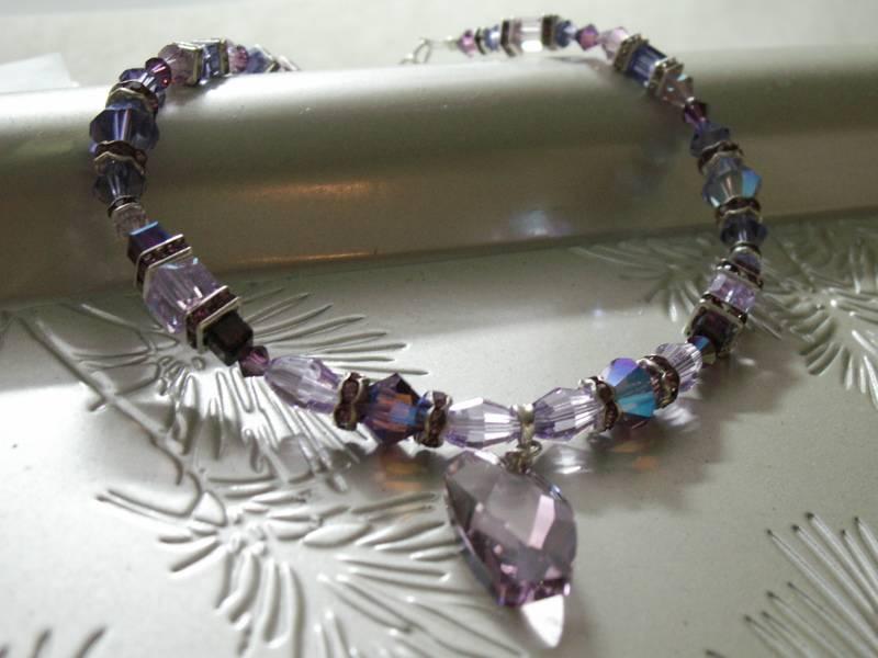 Purple Swarovski Dog Collar