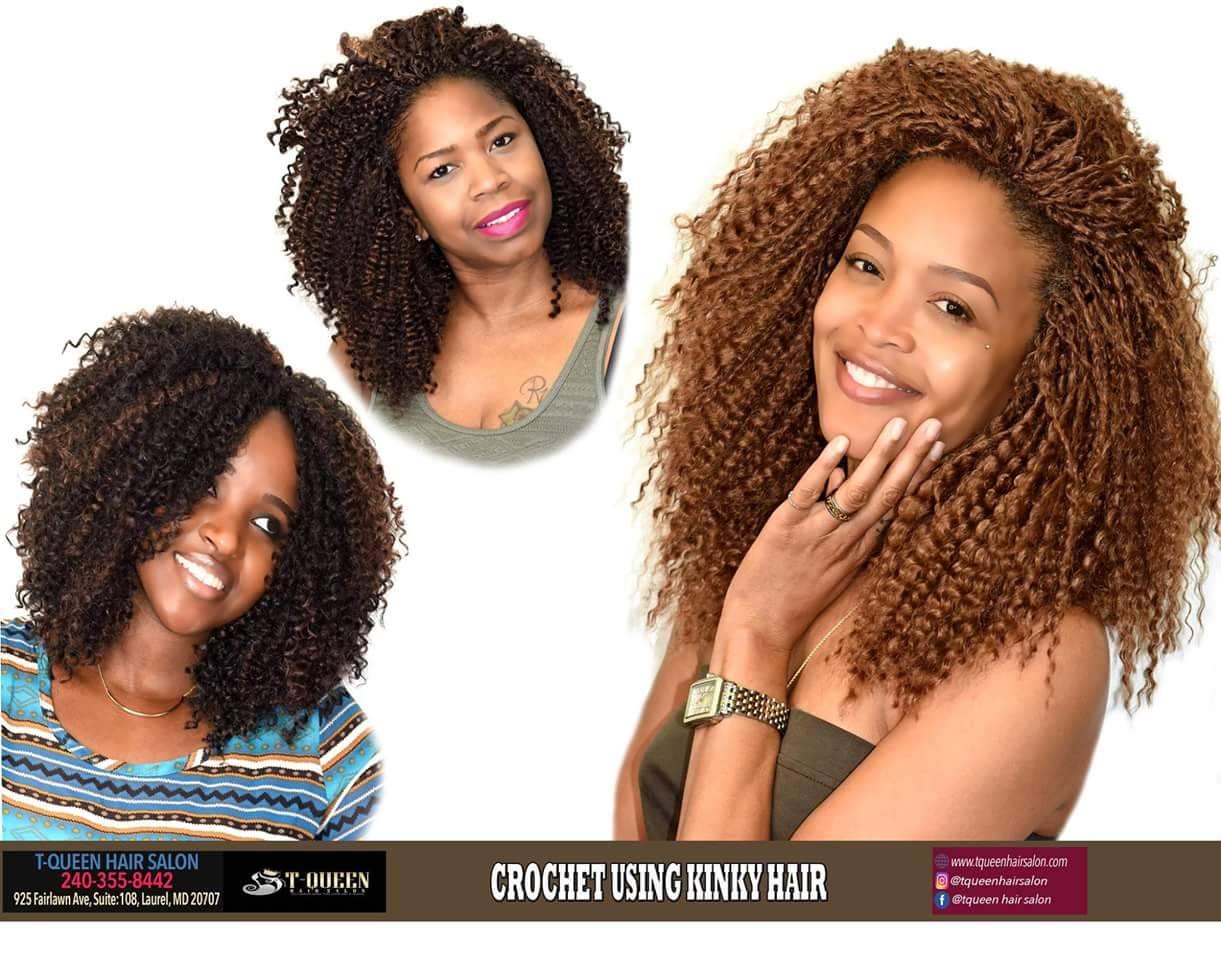 Crochet Braids using Kinky Hair