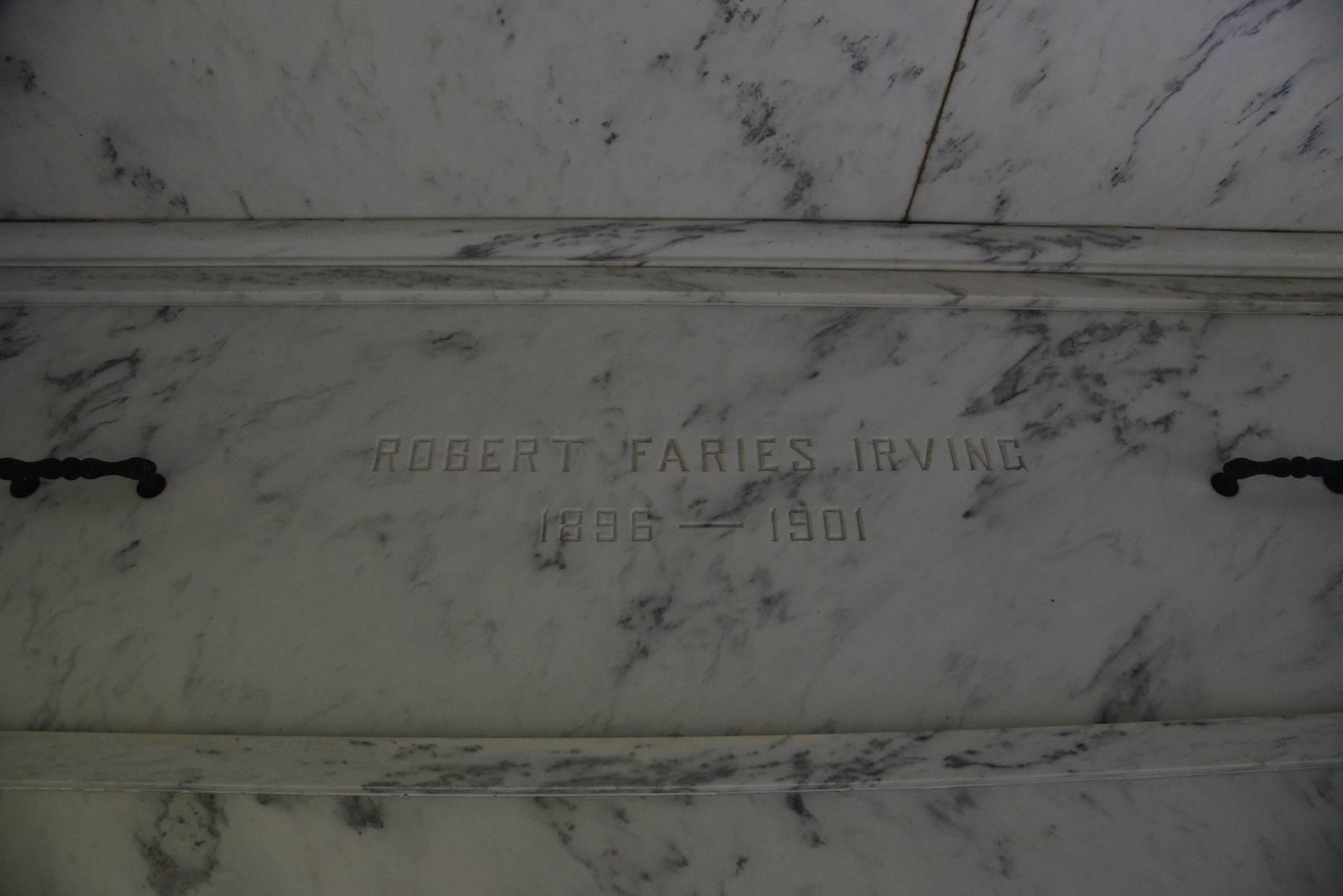 Robert Faries Irving - Son