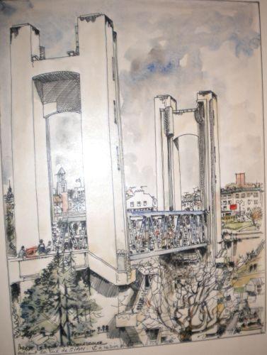 BREST Le Pont Levant