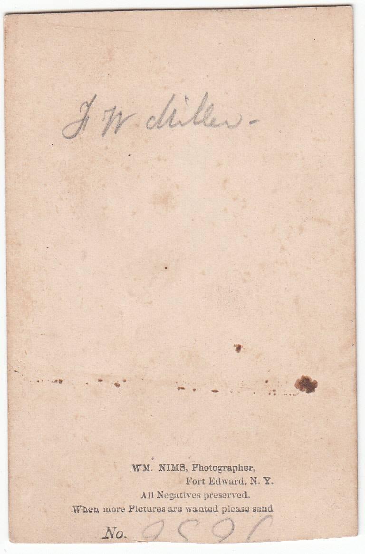 Wm. Nims of Fort Edward, NY - back