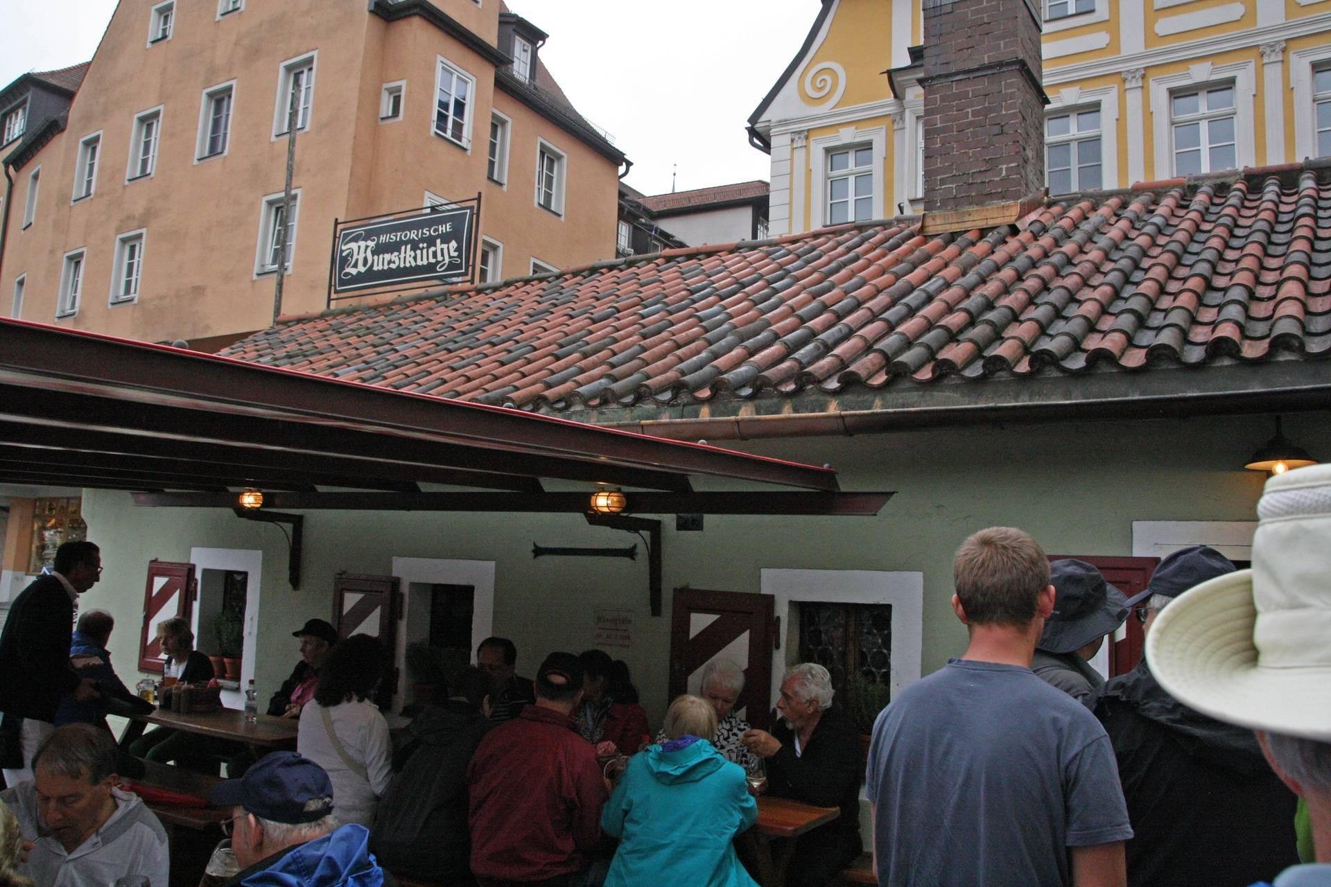 Sausage Restaurant in Regensburg (900 years old)