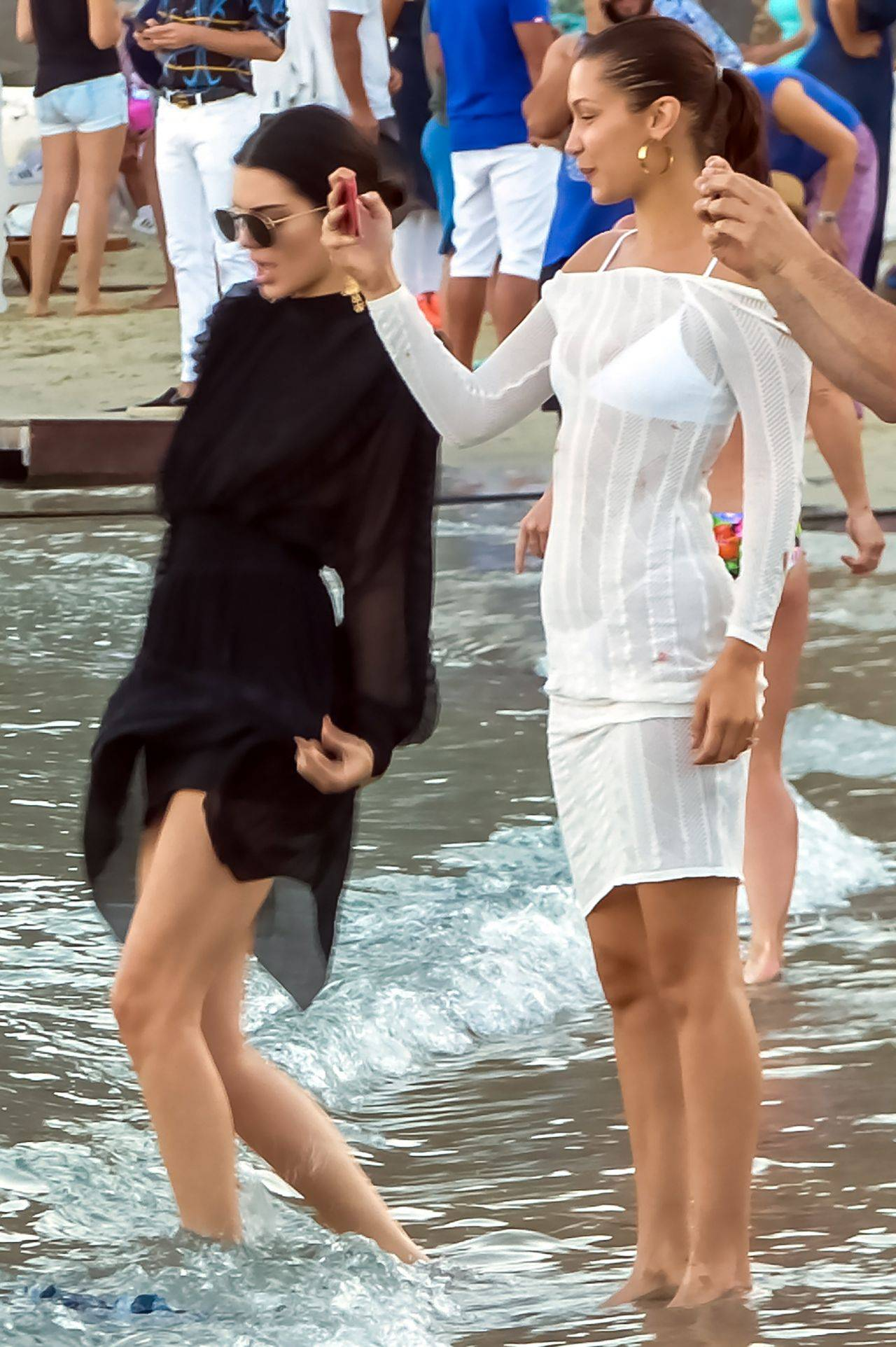 Kendall Jenner & Bella Hadid, Beach  Party, Mykonos