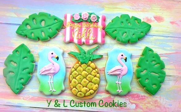 Birthday Cookies Tropical Theme