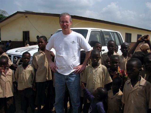 Ken Wilcox with Children