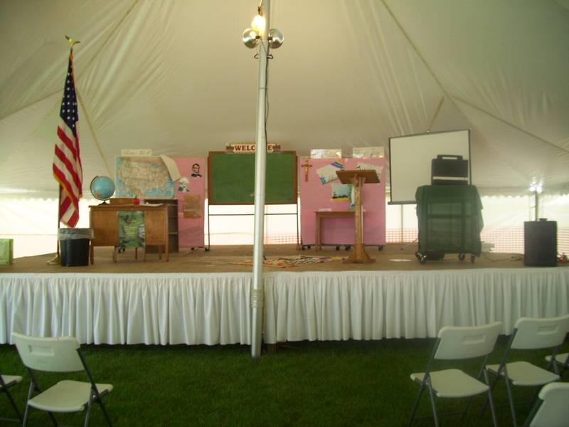Stage for Late Nite Catechism