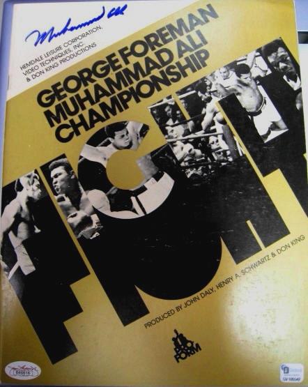 1974 Muhammad Ali vs. George Foreman Signed Boxing Program