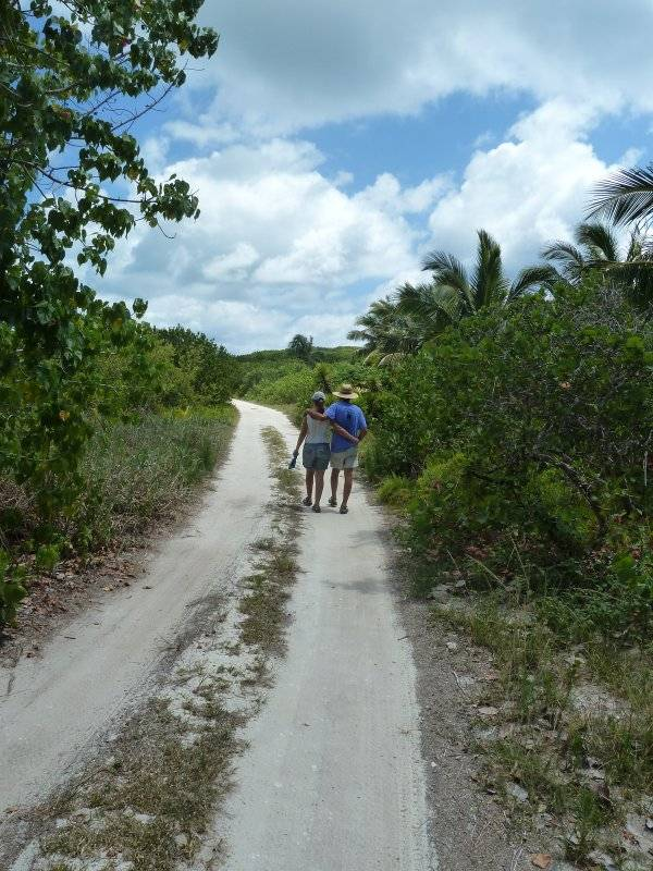 Ann and John exploring Little Harbour