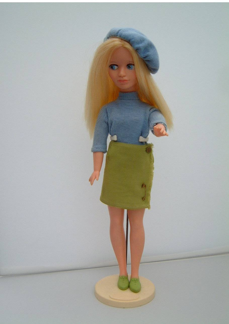 Mitzi with blonde hair