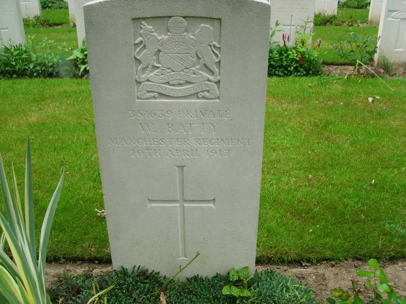 Pte. . 351639 WILFRED BATTY 2nd 9th Bn.