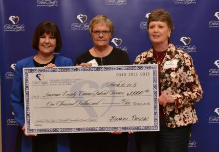 First Lady Karen Pence gives $1,000 to LCCPS.