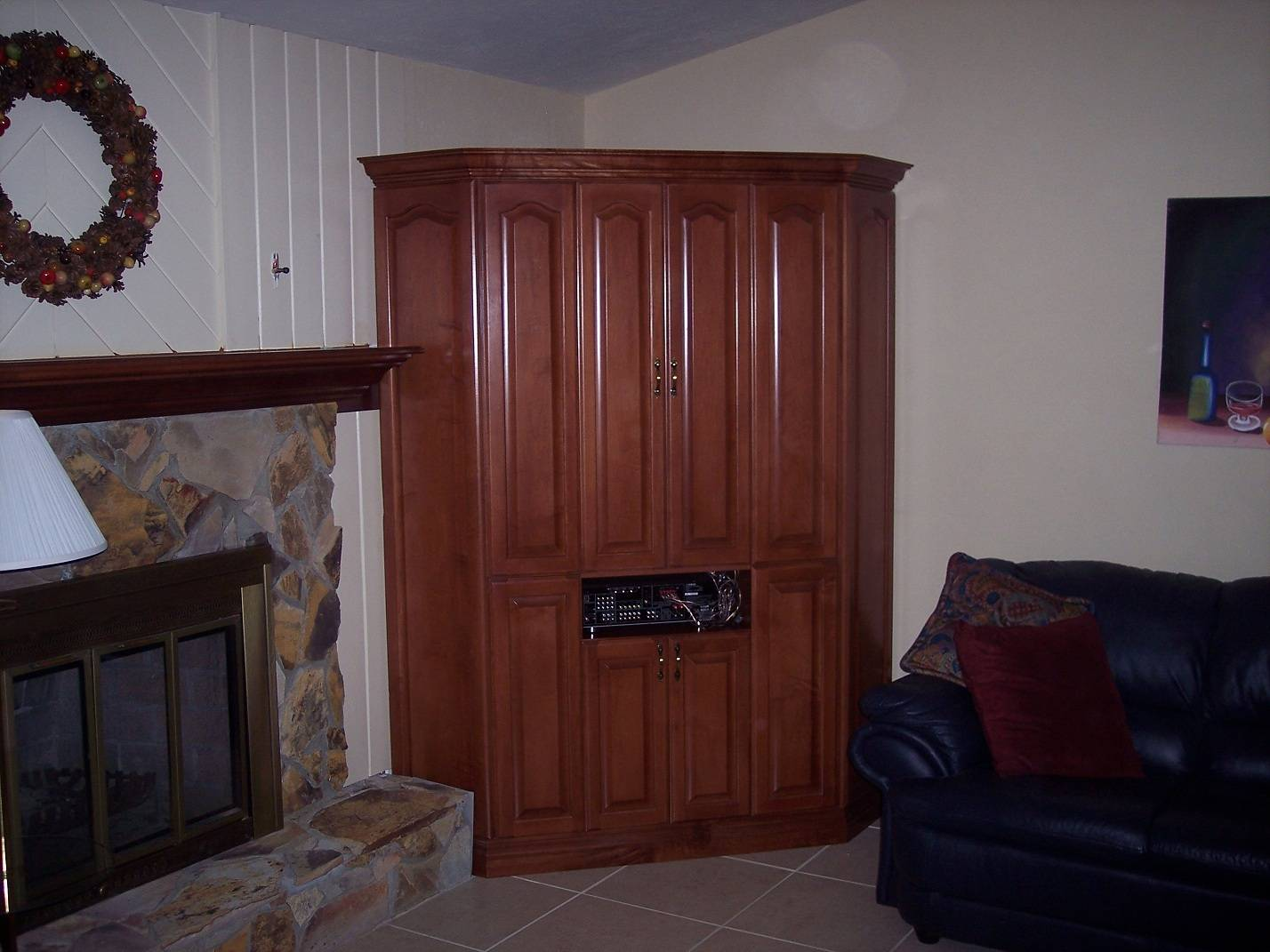 Custom Built Corner Wall Unit.