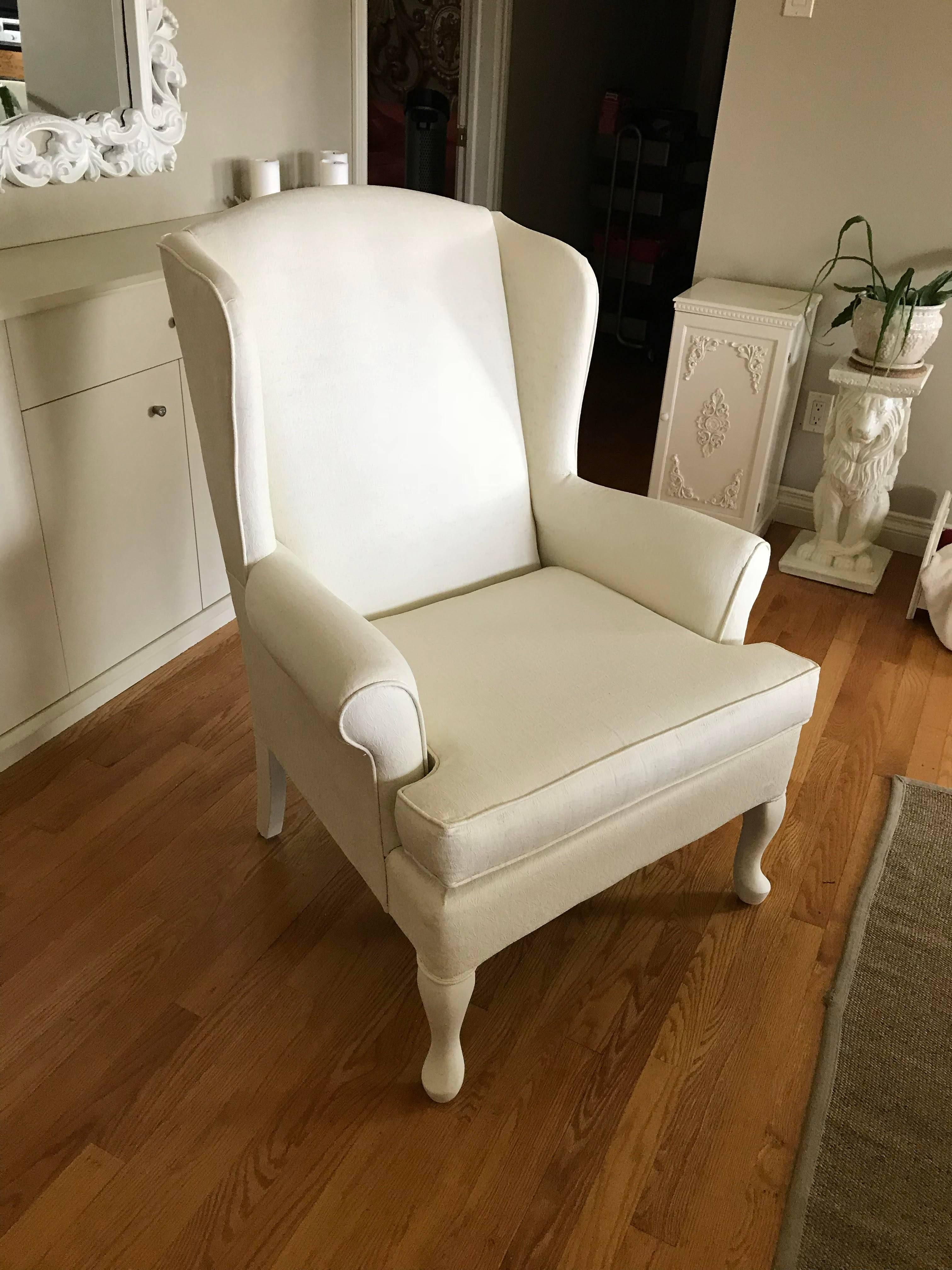 Old White tissu peint