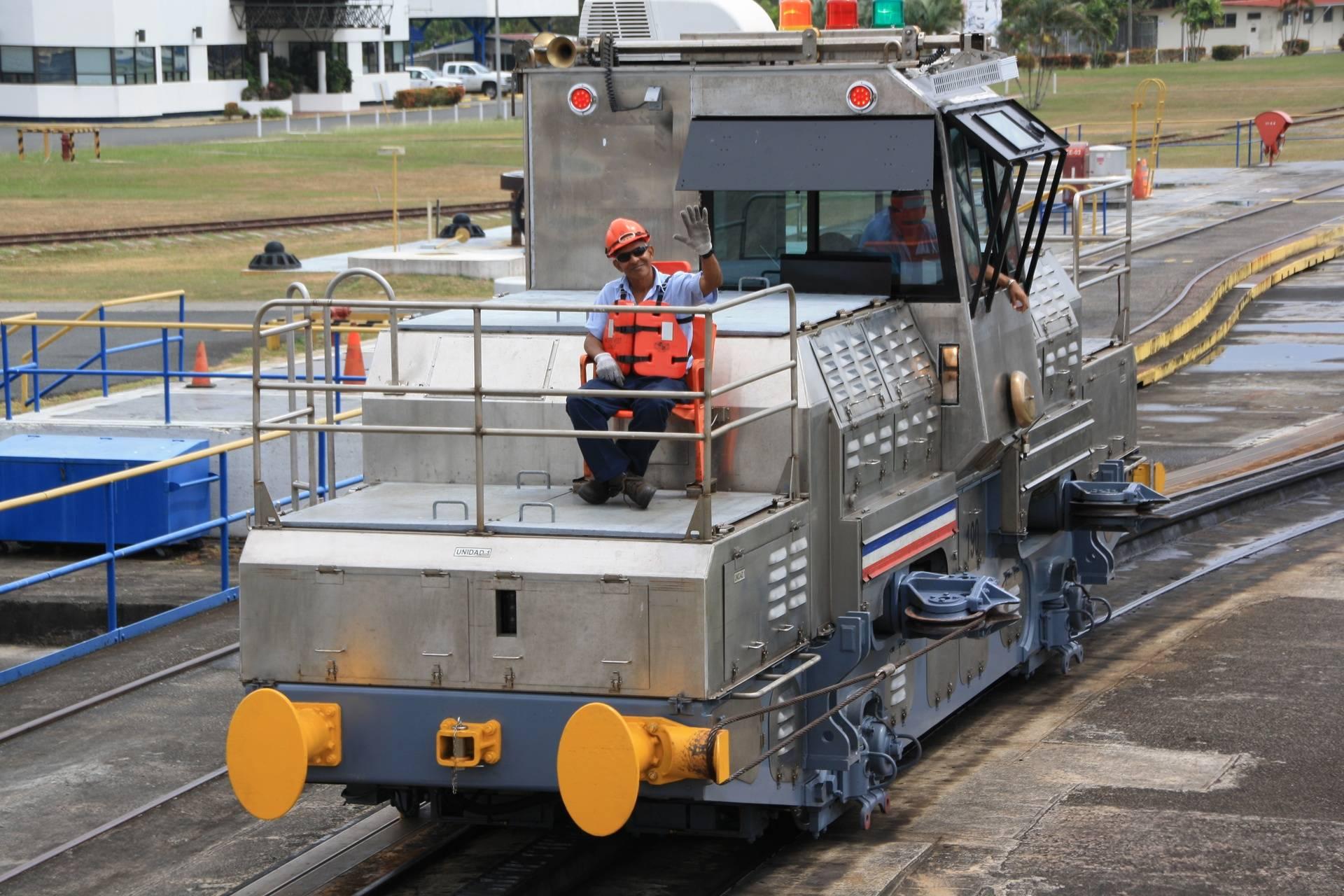 "Panama Canal Cruise - ""mule"" in the locks"