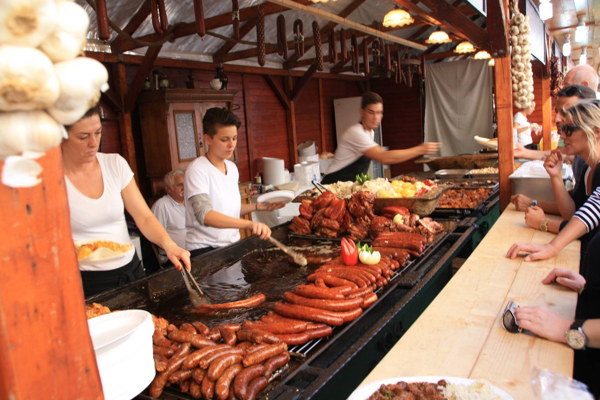 Food at Budapest festival