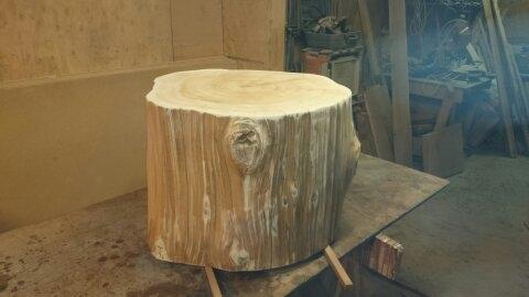 massive 30 inch wide cedar solid side table