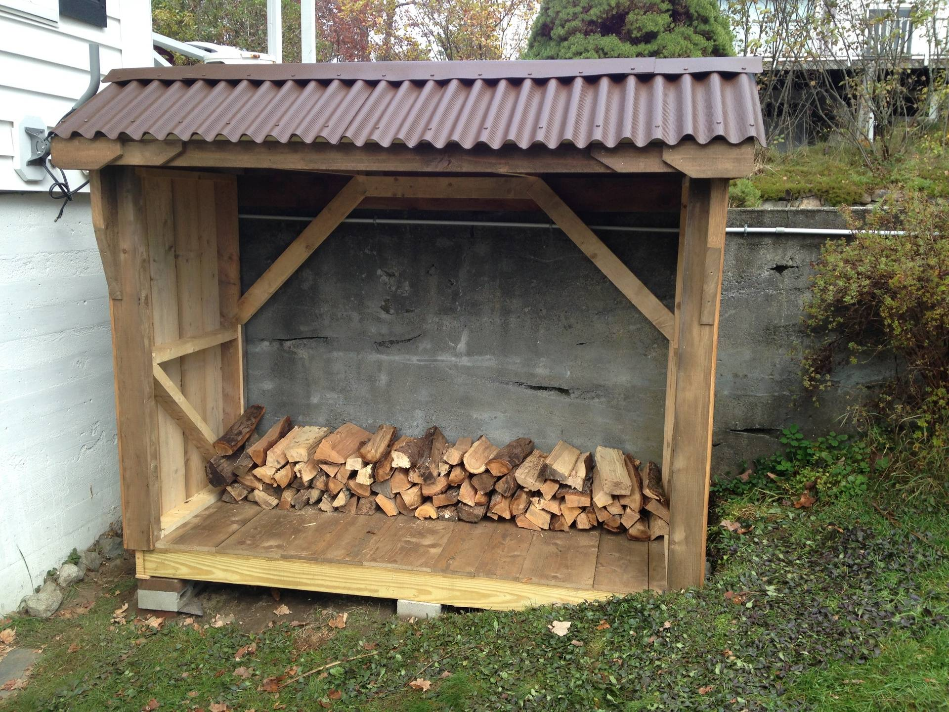 completed firewood shed