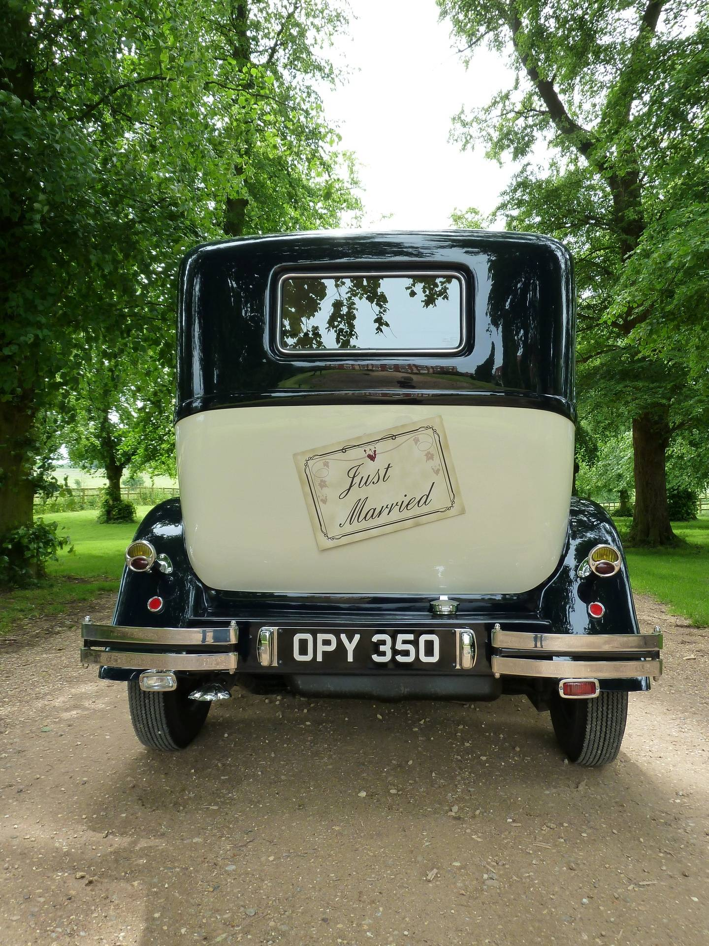 Just Married at Chicheley Hall