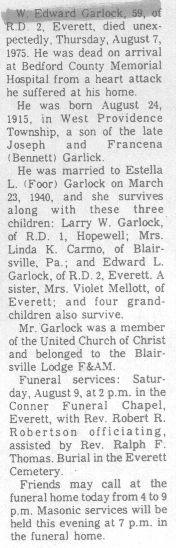 Garlock, W. Edward 1975